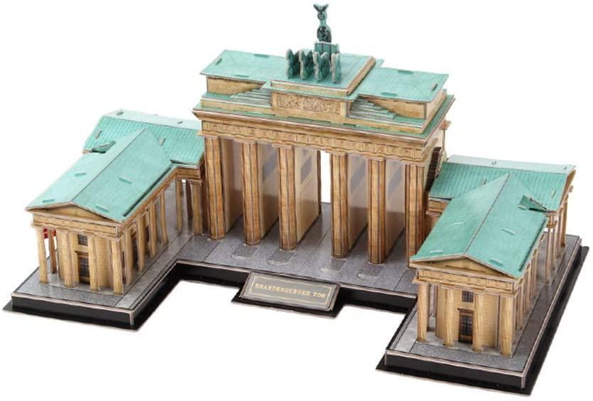LIUSHI Brandenburg Gate 3D Puzzles, Architectural Models Assembled Models of World Famous Attractions Travel Souvenirs