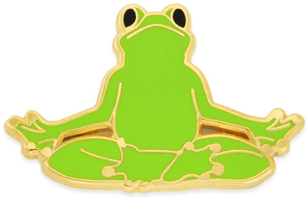 PinMart Yoga Frog - Easy Pose Frog Trendy Enamel Lapel Pin