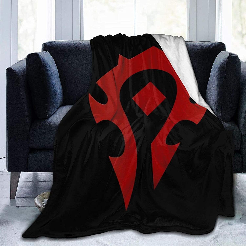 Zwj World of Warcraft Flannel Fleece Blanket Ultra Soft Cozy Warm Throw for Home