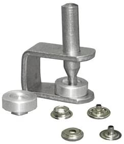 CS Osborne No. K230-20 An easy to use hand snap set. Snaps are nickel plated brass. Set comes with 25 complete standard 1/2