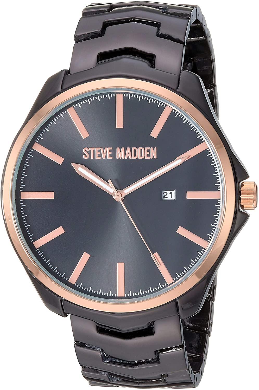 Steve Madden Round Blue Dial Link Men's Watch (SMW254)