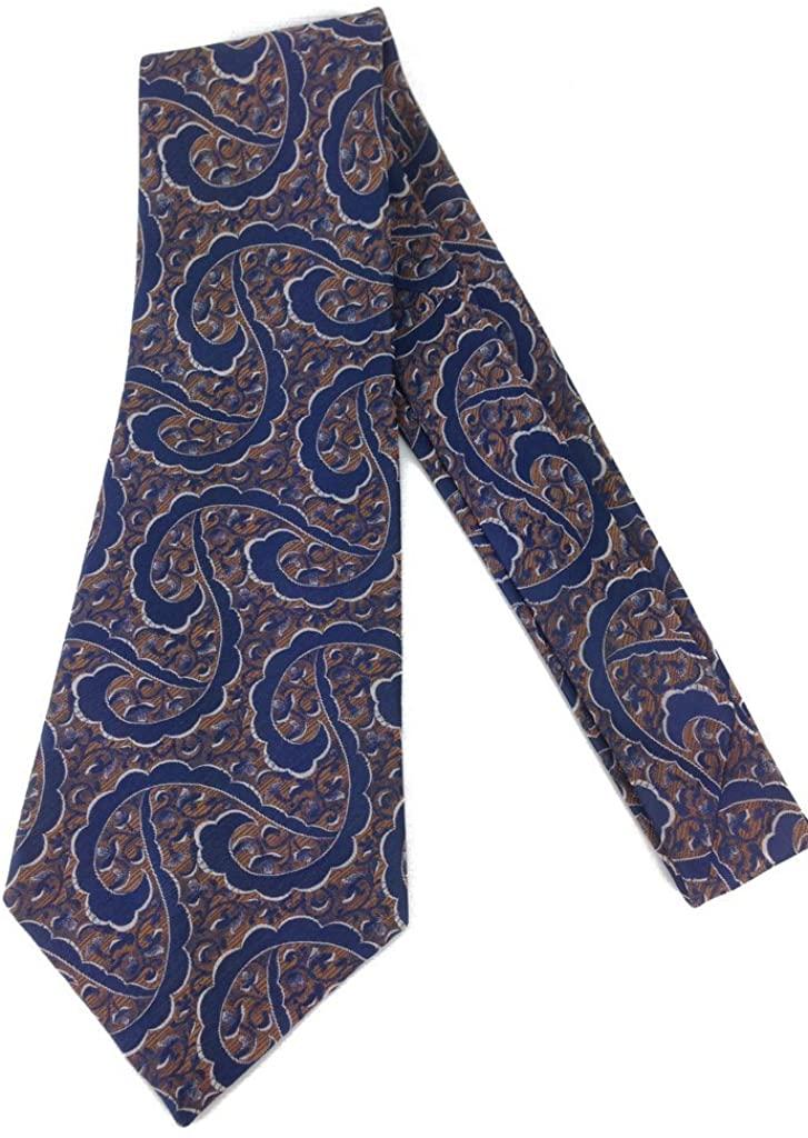 Vine Paisley Swirl Vintage Tie - Jacquard Weave Wide Kipper Necktie