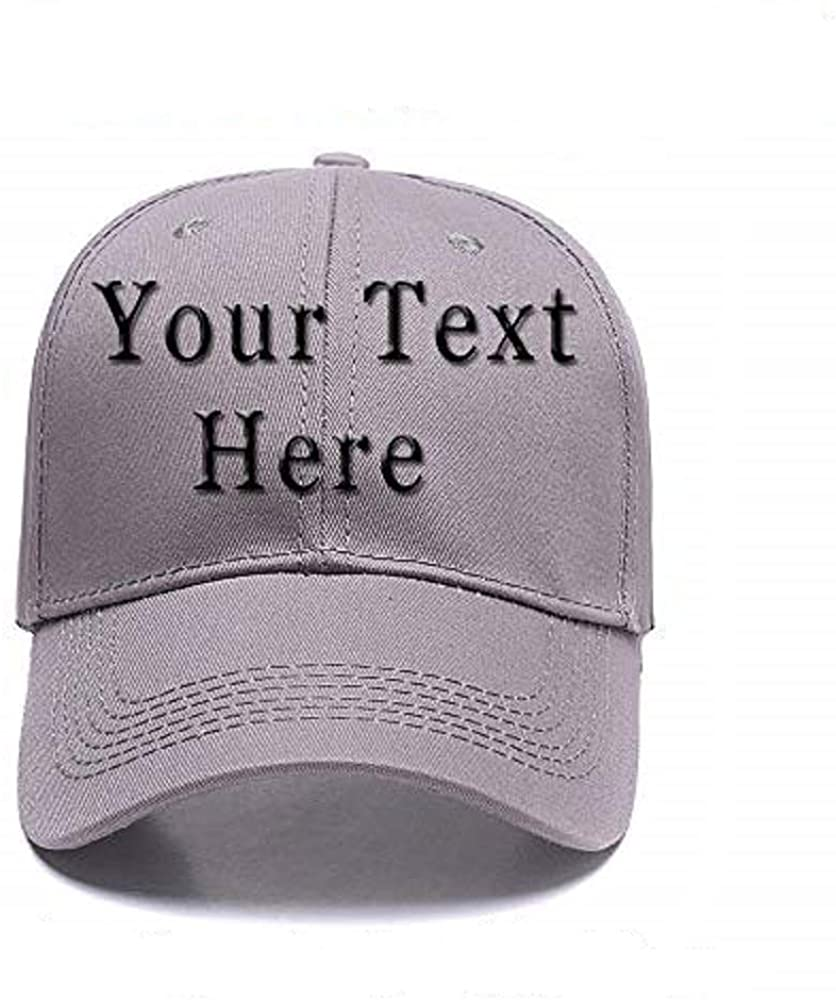 DIY Embroidered Baseball Hat,Custom Personalized Trucker Cap,Add Text(Single Or Double Line)