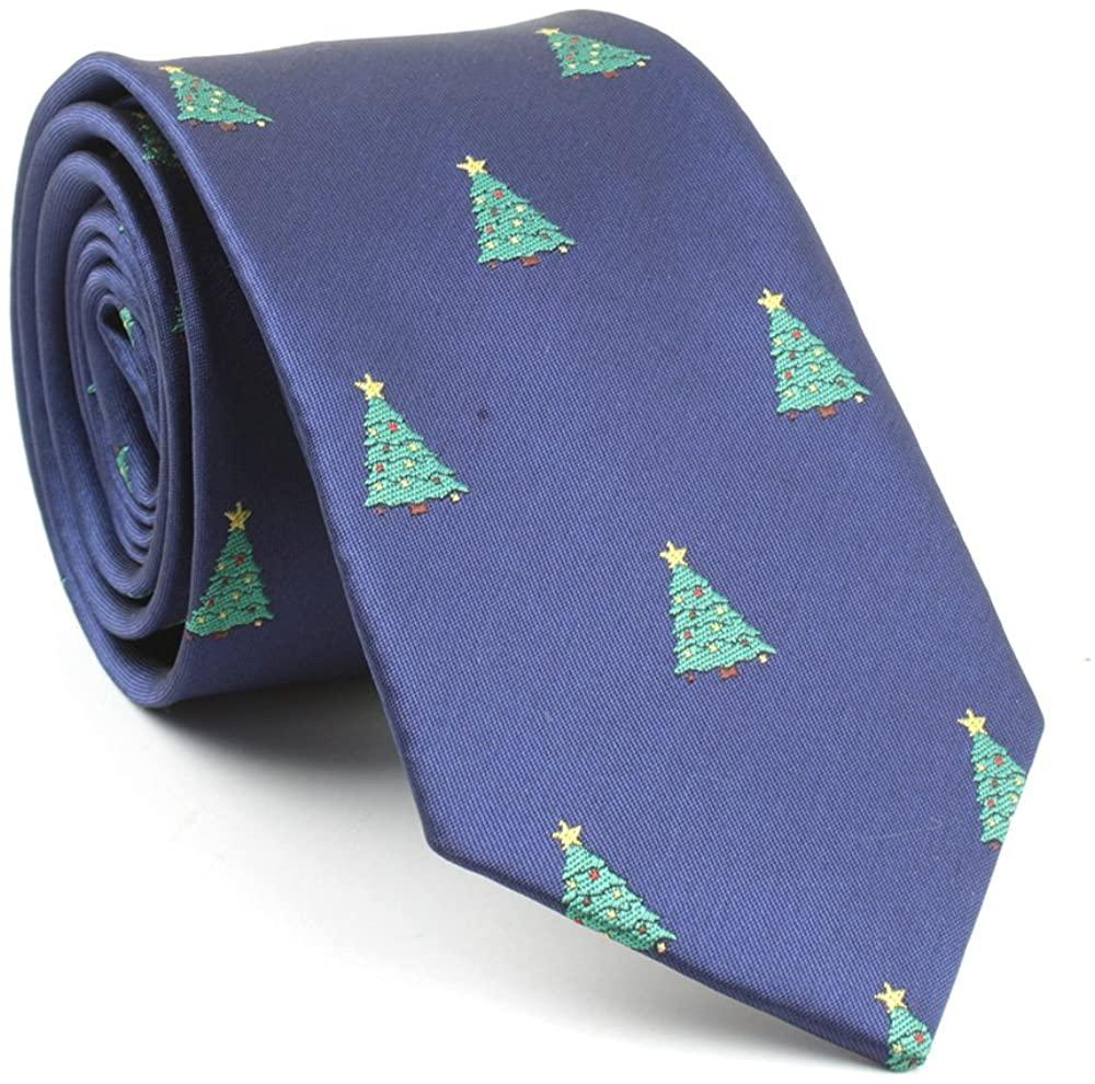 TAGERWILEN Men's Large Striped Jacquard Woven Microfiber Tie Formal Business Necktie