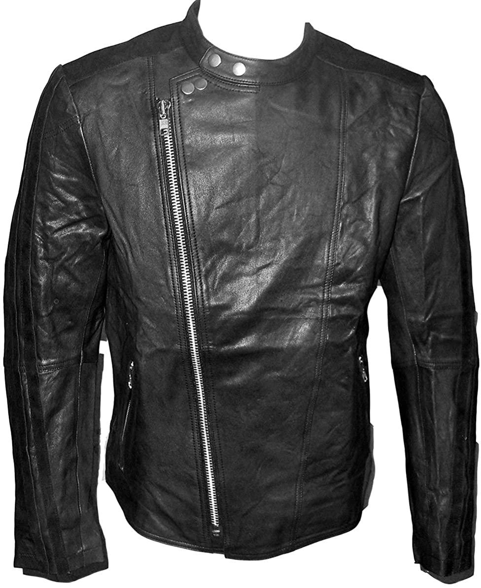 Billy Austins Men's Manhattan Leather Jacket Black