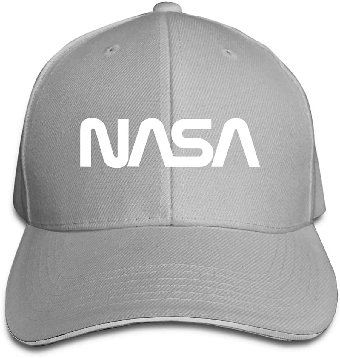 Kemeicle Men Women Baseball Caps Adjustable NASA Logo Fitted Hat Unisex