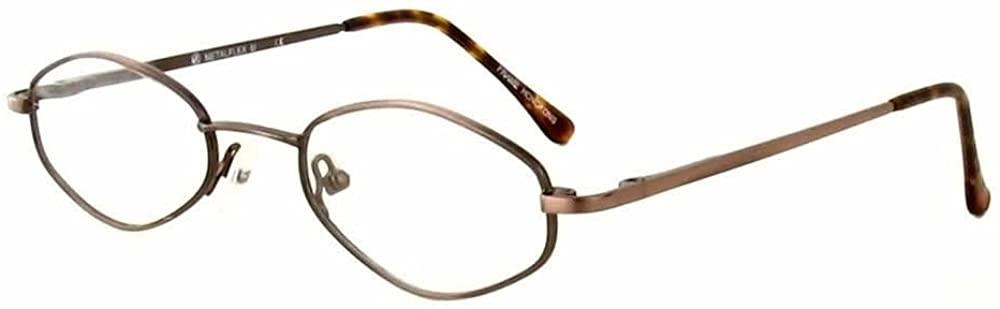 Calabria MetalFlex U Brown Reading Glasses 48mm ; DEMO LENS