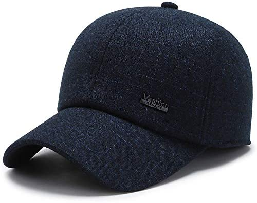 Men hat Thick Warm Outdoor Winter Cold Middle-Aged Baseball Cap