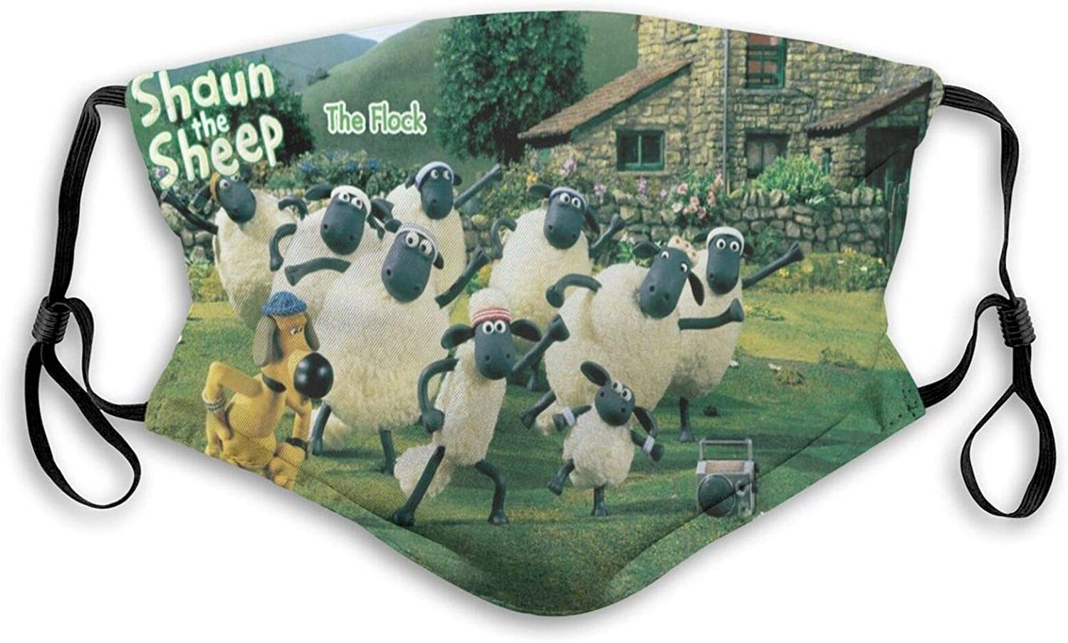Cool 3D Print Shaun The Sheep Face Mask Reusable for Adult&Kid Cover Protection Balaclava with 2 Filter, Made in USA