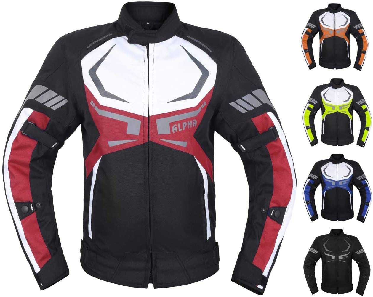 ACG ALL SEASON VIPER MOTORCYCLE JACKET TJ0027 (RED, 4X-LARGE)