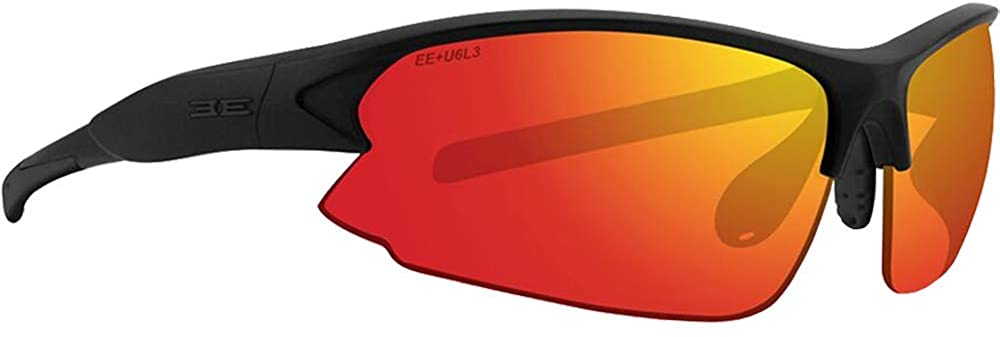 Epoch Primo Sport Fashion Motorcycle Riding Sunglasses Black with Clear/Red Mirror Super Dark Photochromic Lens