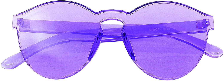 Fashion Womens Mens Clear Novelty Sunglasses UV400 Outdoor Frameless Eyewear