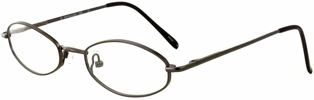 Calabria MetaFlex 1000 Gunmetal Reading Glasses ; DEMO LENS