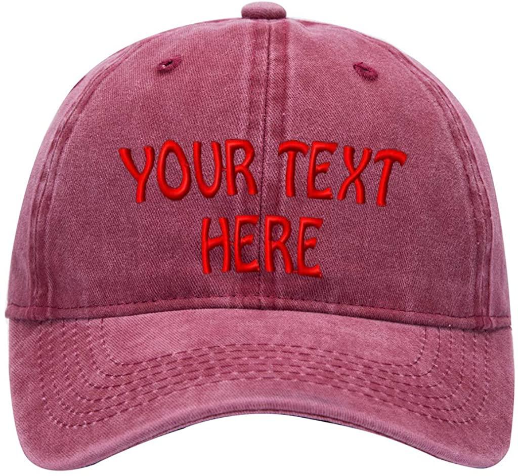 Custom Denim Hat Embroidered Men Women Personalized Text Name Baseball Cap