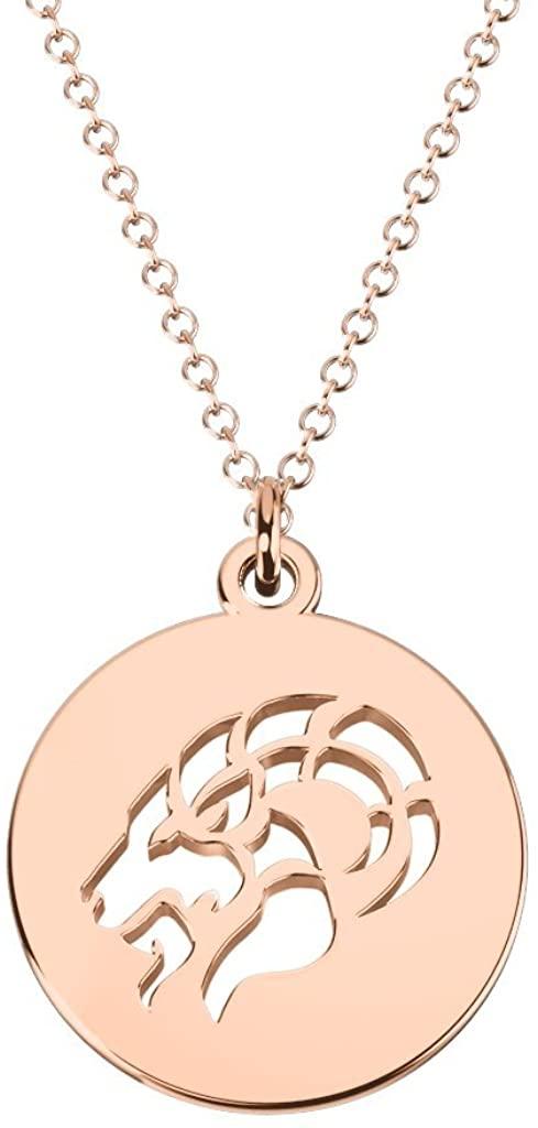14K Gold Capricorn Zodiac Cutout Disc Necklace by JEWLR