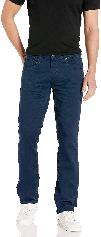 Buffalo David Bitton Men's Six Slim Straight Leg Jean in Deep Navy