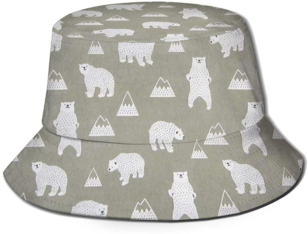 Breathable Polyester Fishing Travel Bucket Hat Outdoor Sun Cap for Women Men