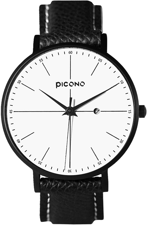 PICONO Siempre Series NO.SI-11201 Analog Quartz Water Resistant Single Dial Ladies Leather Strap Watch