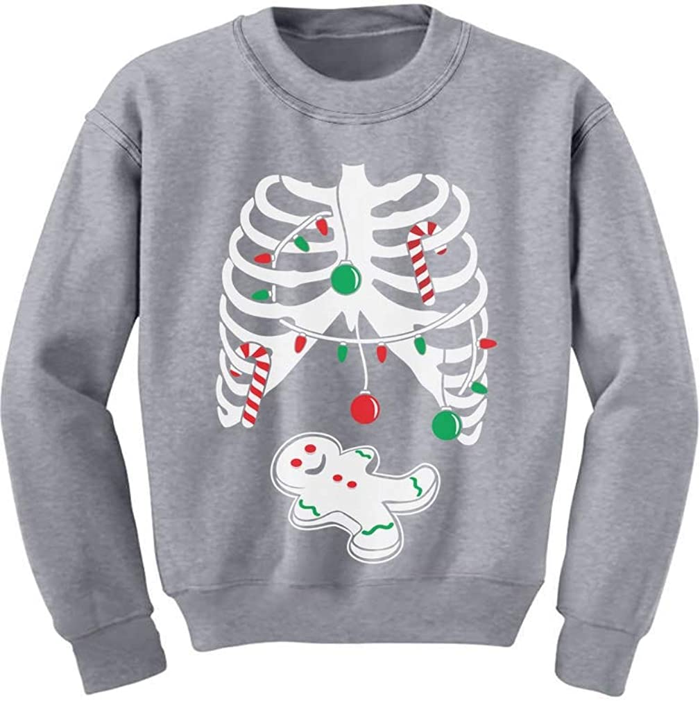Gingerbread Skeleton Christmas Rib Cage Xray Cute Kids Sweatshirt