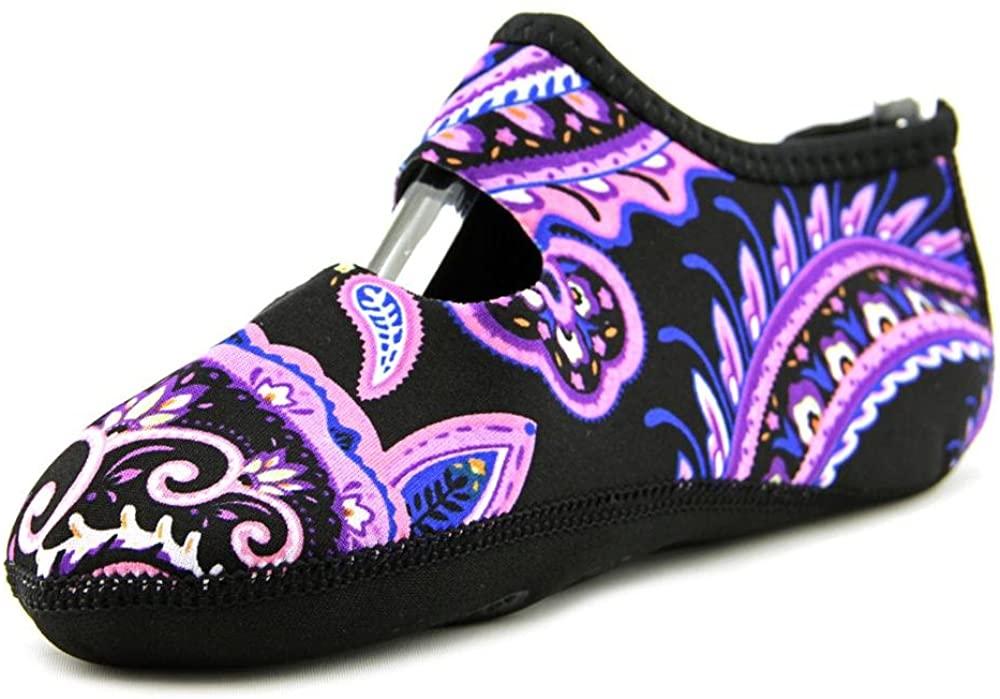 Nufoot Barefoot Mary Jane Slippers, Purple Paisley, 6-7