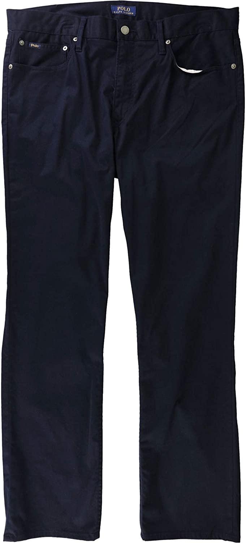 Polo Ralph Lauren Mens Prospect Classic Rise Dark Wash Straight Leg Jeans (Navy, 33W x 32L)
