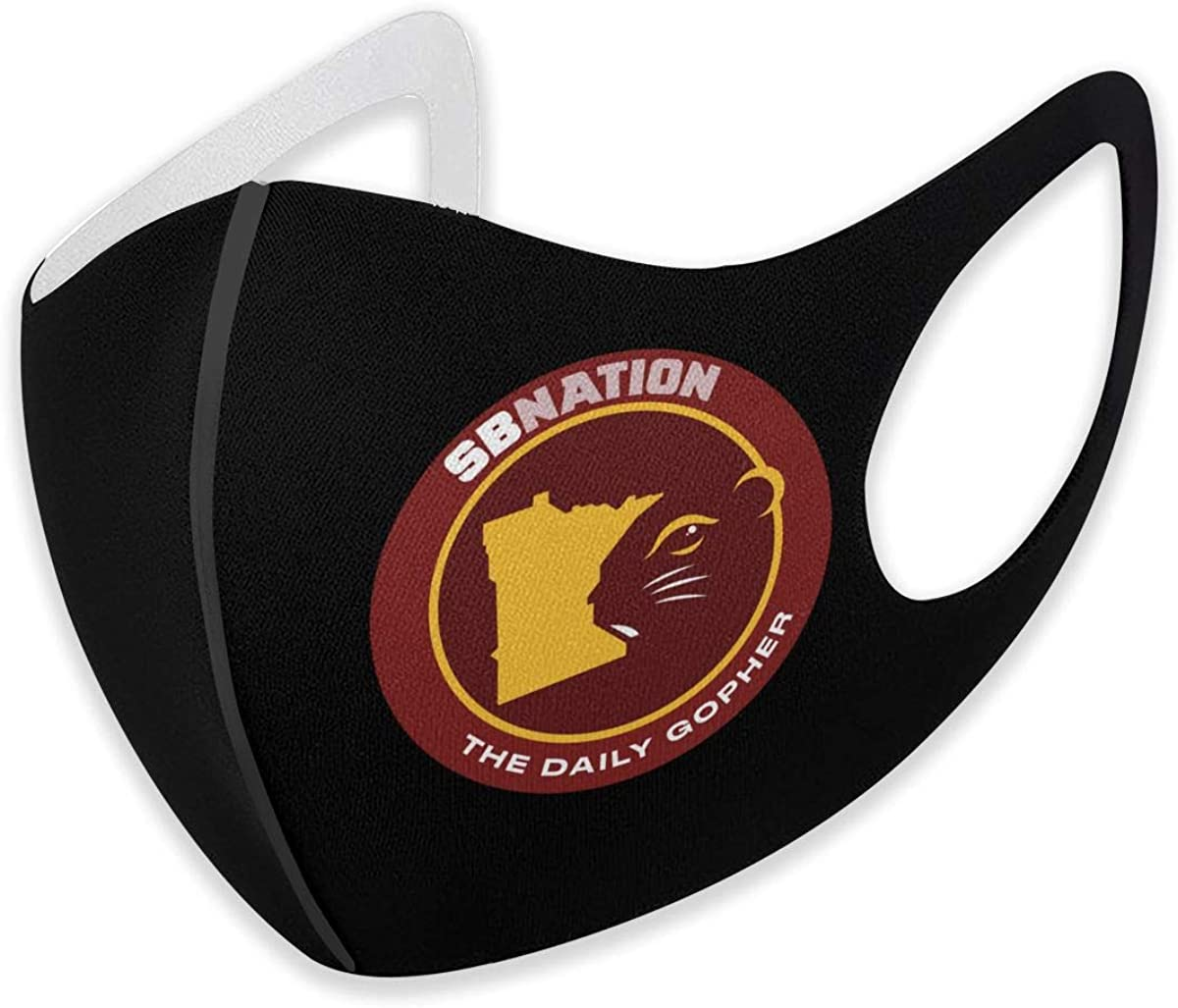 Cloth Minnesota Golden Gophers Face Mask Reusable and Washable Breathable Anti Dust Mouth and Nose Cover - Cute Facial Mask with Earloop Cotton for Men and Women