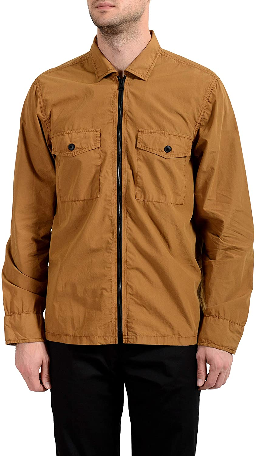 Hugo Boss Lovel-Zip Men's Brown Full Zip Windbreaker Jacket US M IT 50