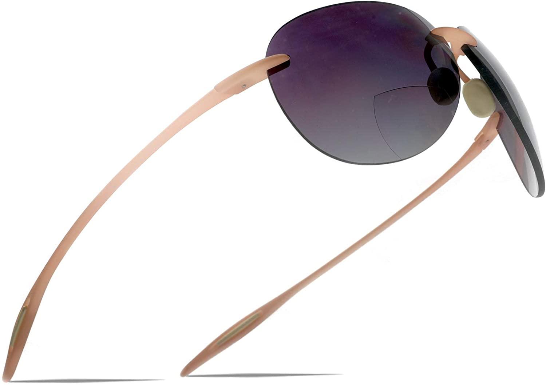 Maui Sports Pilot Bifocal Reading Sunglasses Ultra Flex TR90 Readers Under the Sun