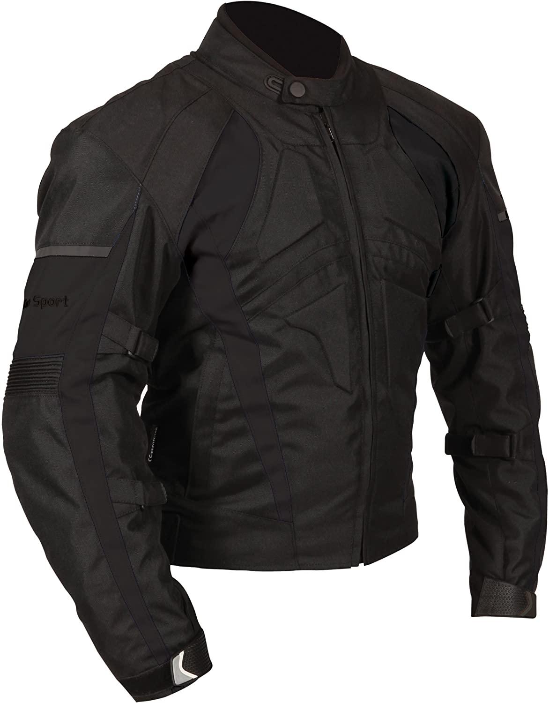Milano Sport Gamma Motorcycle Jacket (Black, Medium)