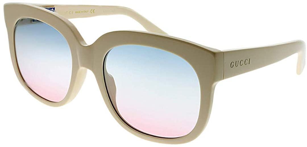 Gucci GG0361S Sunglasses 002 Ivory / Multicolor Gradient Lens 56 mm
