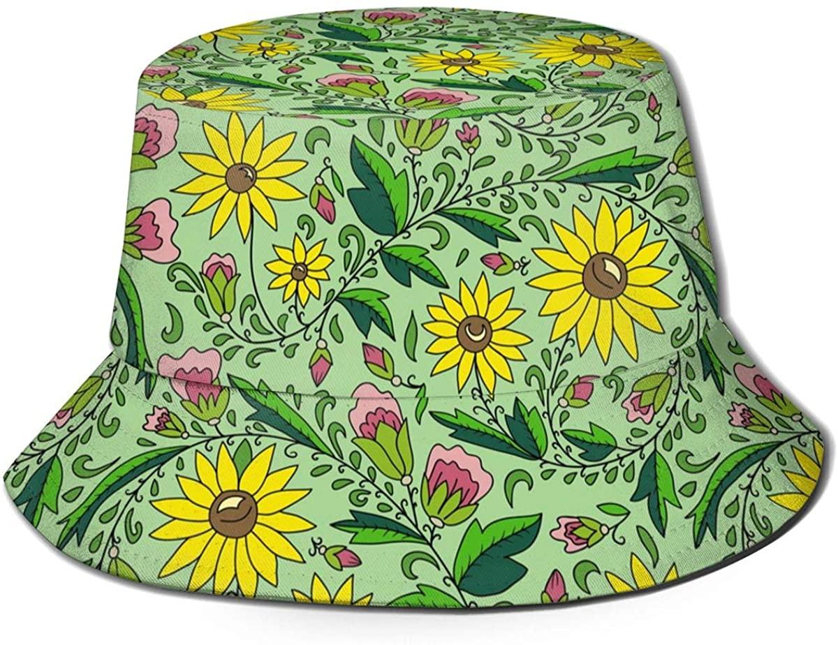Summer Cotton Unisex Boonie Cap Fisherman Hat Printed Outdoor Sun Hat, Many Patterns