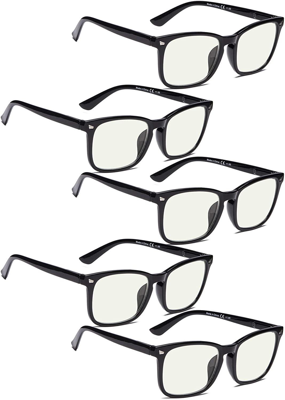 COMPUTER GLASSES 5 pack Blue Light Filter UV420 Glare Protection Anti Blue Rays Eyeglasses for Women