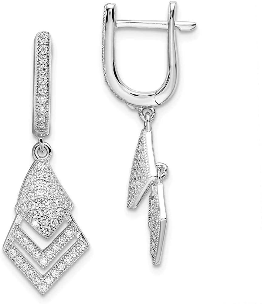 925 Sterling Silver Cubic Zirconia Cz Hoop Earrings Ear Hoops Set Drop Dangle Fine Jewelry For Women Gifts For Her