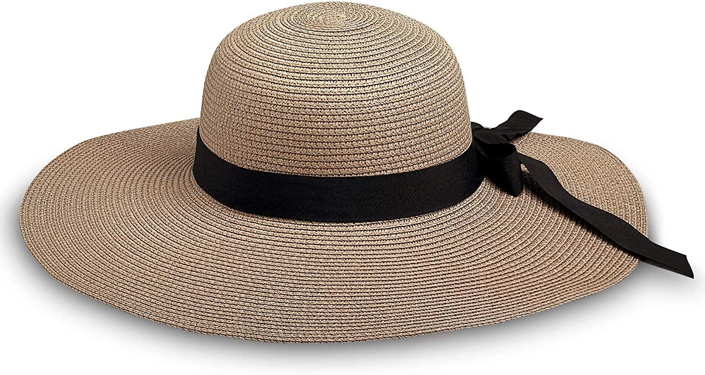 Delray Palm Wide Brim Floppy Sun Hat Foldable UV Protection Beach Summer Gardening Sun Hat