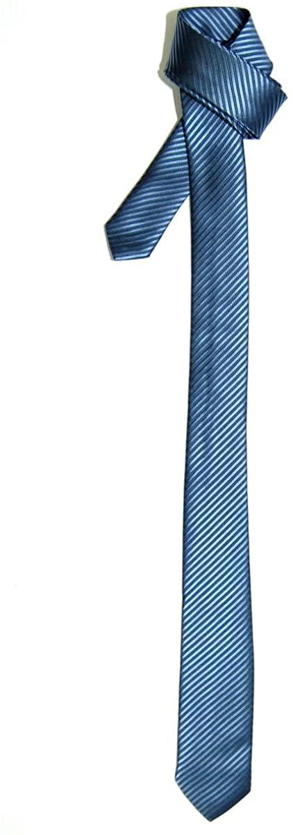 Retreez Skinny Tie Necktie with Stripe Textured - Various Colors