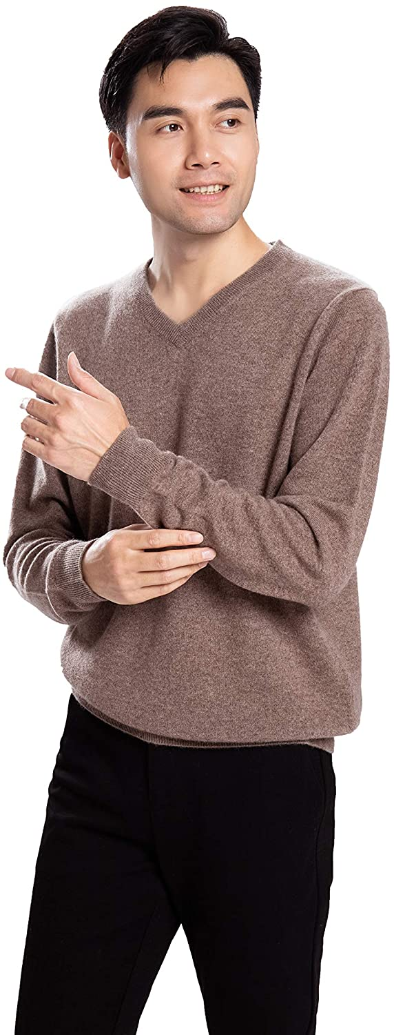 Men's Winter Autumn Sweater 100% Pure Inner Mongolian Cashmere Classic Long Sleeve Pullover Sweater