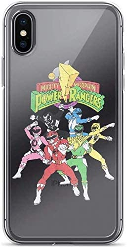 XCBVERG Migh-ty Mor-phin Power Rangers Pure Clear Case Cover for iPhone 7 Plus /8 Plus