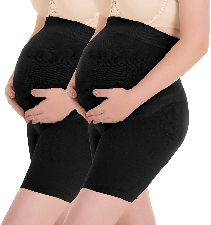 Surewin Women's Seamless Maternity Shapewear for Dress High Waist Over Bump Pregnancy Underwear