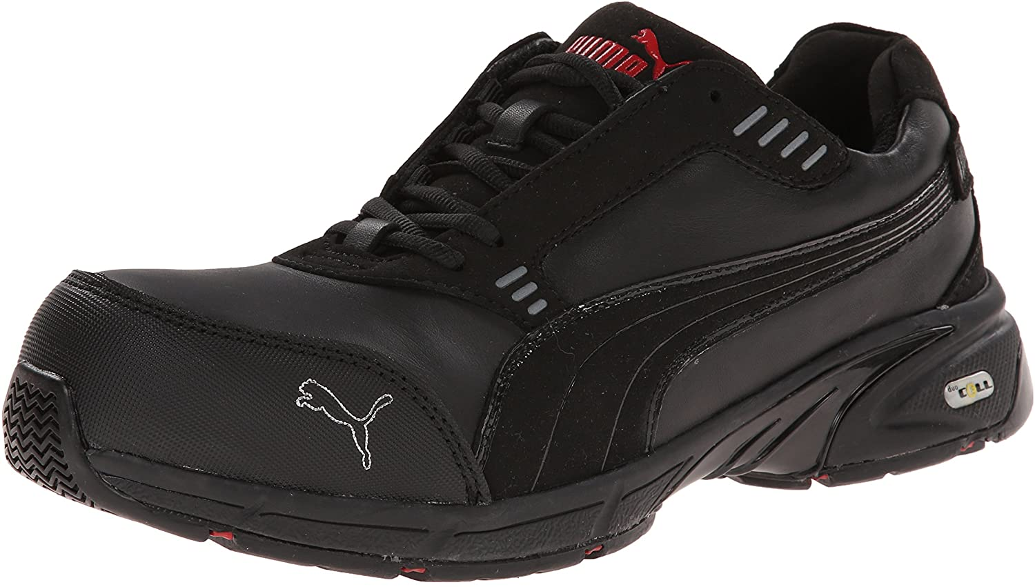 Puma Safety Black Mens Leather Velocity Low SD WRU CT Oxfords Work Shoes 7