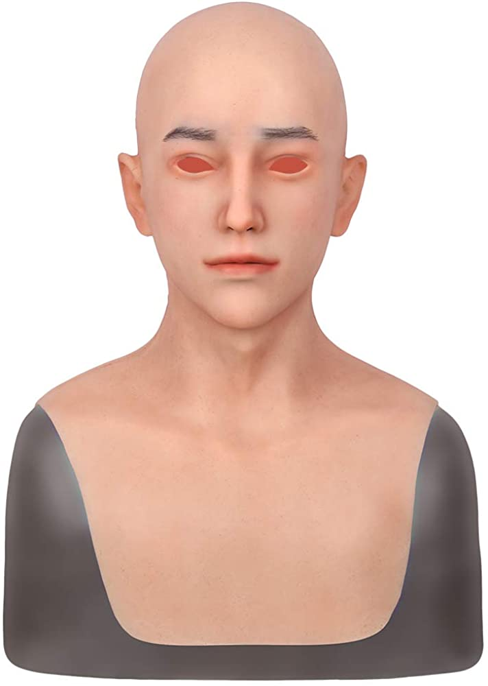 Silicone Mask Realistic Mask Hand Made Face Mask with Design for Men Drag Queen Transgender Disguise