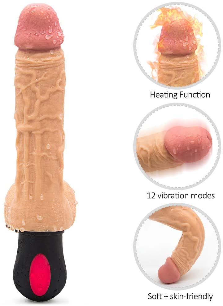 Thrusting Heating Viberate Adult Toys for Women Pleasure 8.2 Inch Medical Silicone Wand with 7 Powerful Vibrations for Adult Women Pleasure Sport