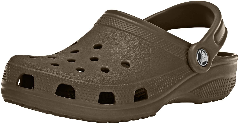 Crocs Classic Clog | Water Comfortable Slip on Shoes, Chocolate, 15 Women/13 Men