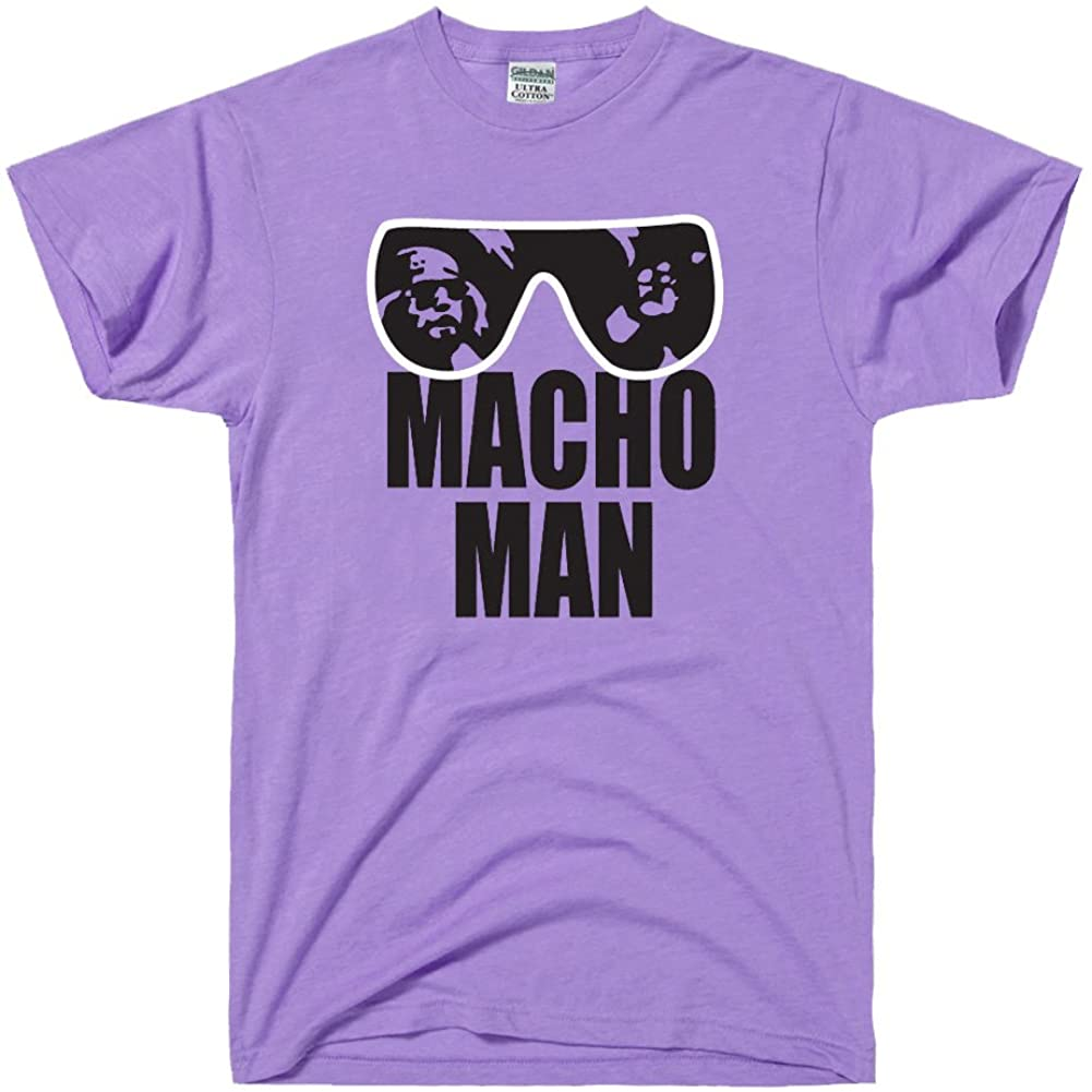 DirtyRagz Men's Macho Man Retro Wrestling T Shirt