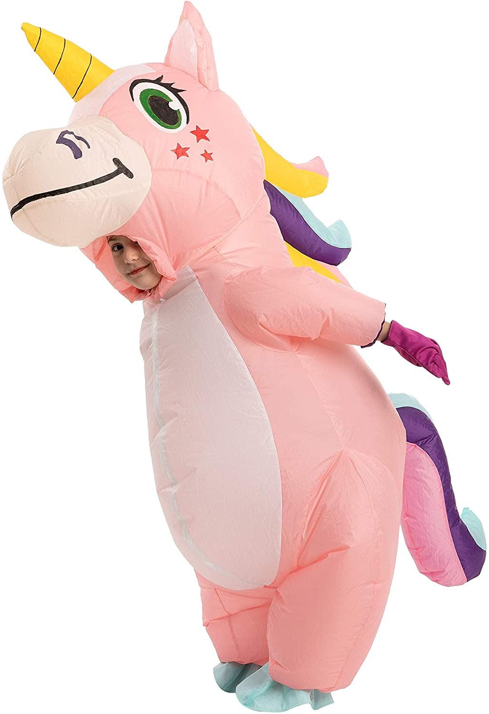 Child Unisex Unicorn Full Body Inflatable Costume