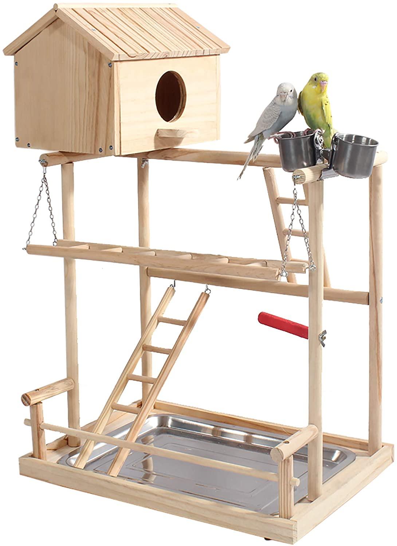 ROCKEVER Parrot Play Stand Bird Playground Cockatiel Gym