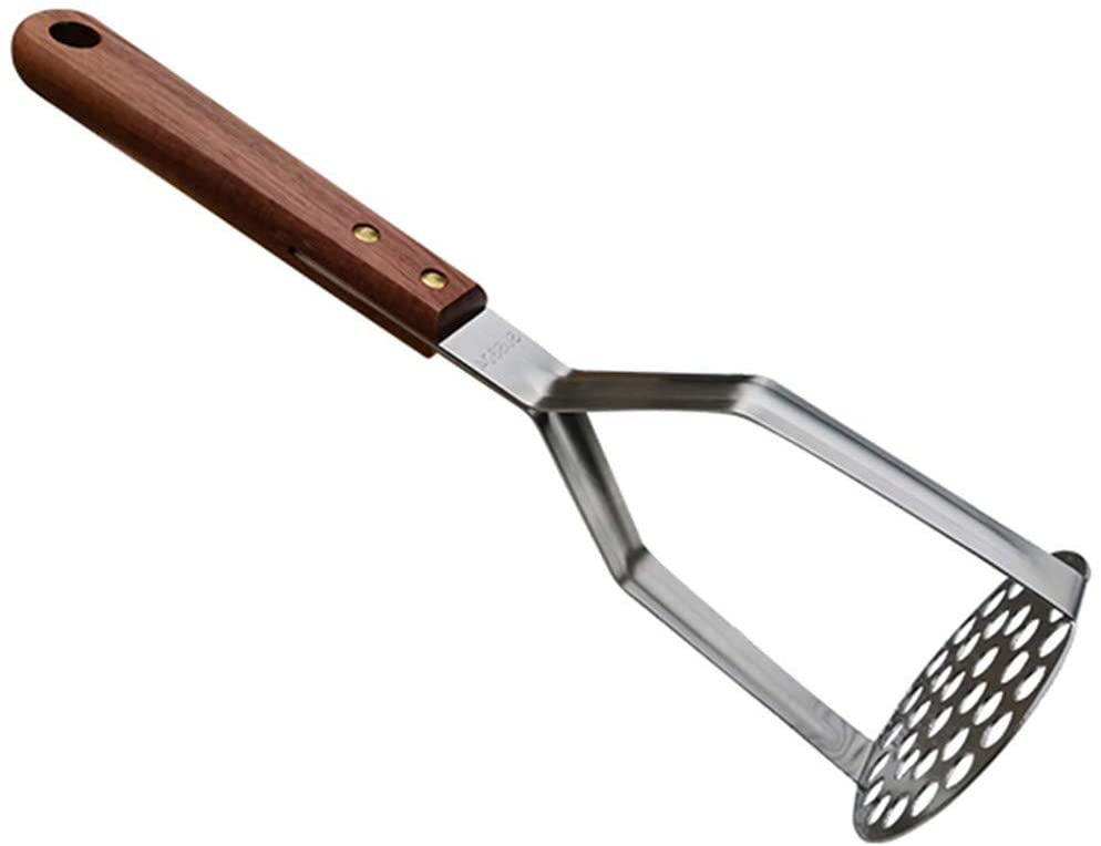 Stainless Steel Potato Masher Kitchen Tool(AUGMENTED MODEL) - Ergonomic Design, Sturdy Construction, Long & Comfortable Grip - Manual Masher by MEAARTEM