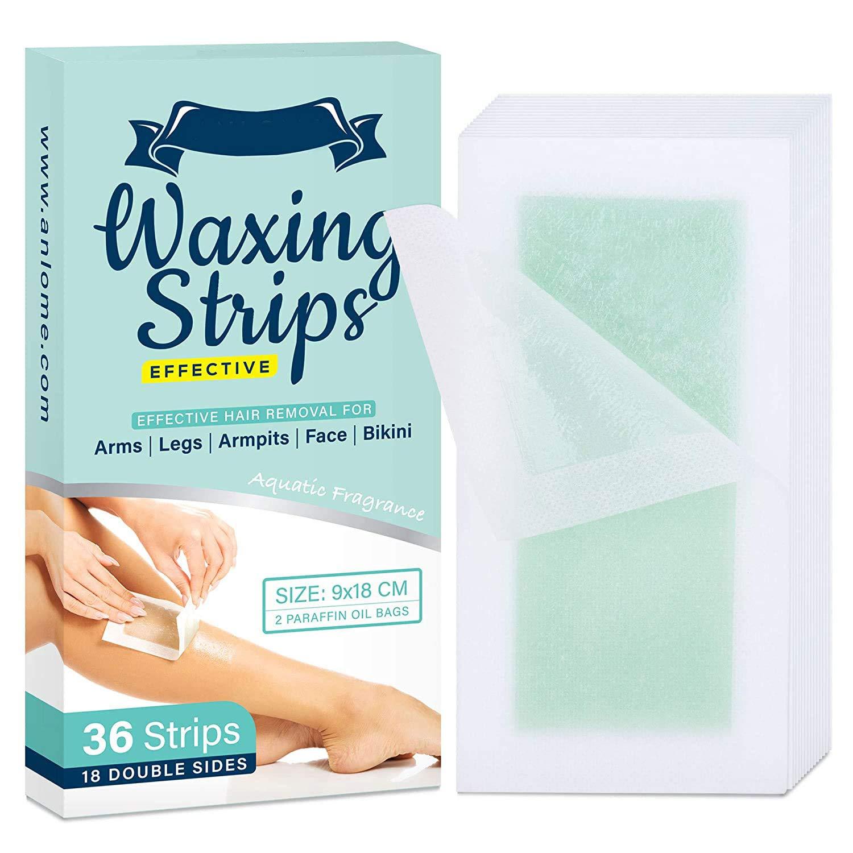 AngelicMisto Wax Strips for Face Legs Underarms Brazilian Bikini Women, Wax Hair Removal with 36 Strips