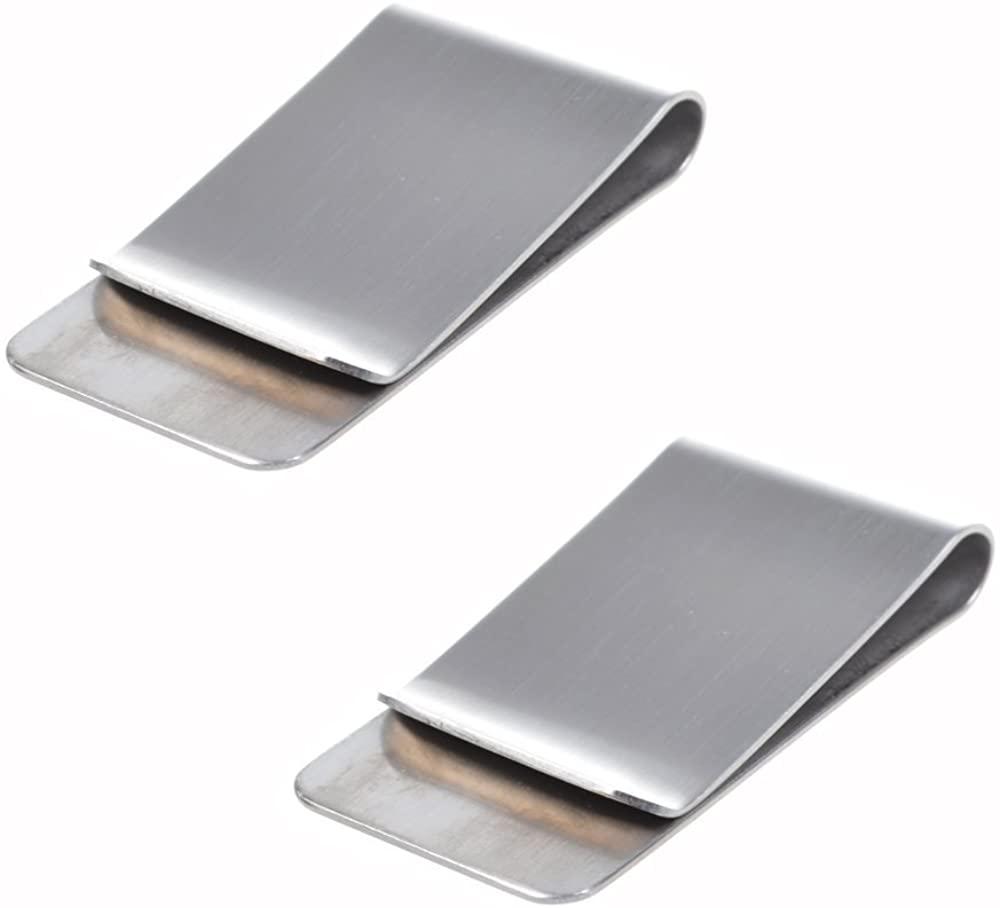 Stainless Steel Slim Money Clip & Credit Card Holder