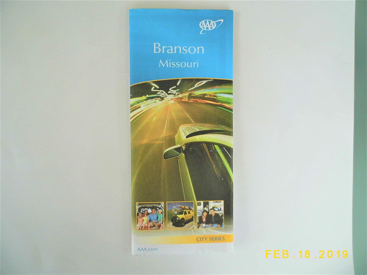 AAA Travel Map Branson Missouri City Series 5/17-8/19