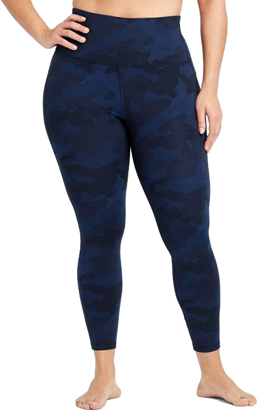 All in Motion Women's Camo Print Contour Curvy High-Waisted 7/8 Legging with Power Waist - Navy - (XX-Large)